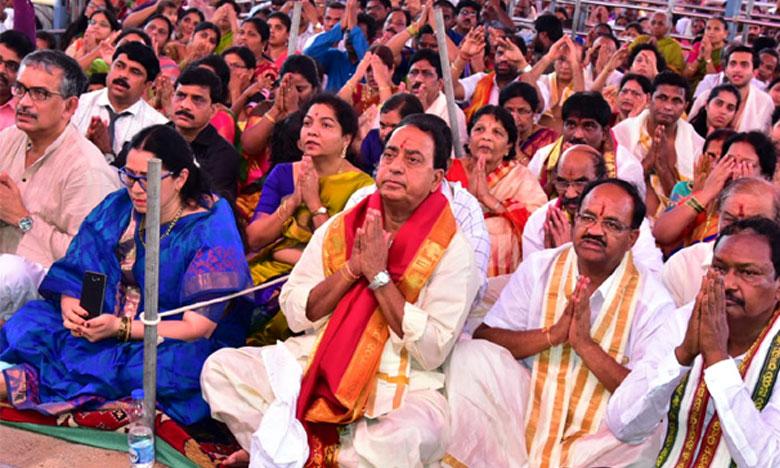 Seetharamula Kalyanam Celebrations in Bhadradri, రామనామంతో మార్మోగిన భద్రాద్రి