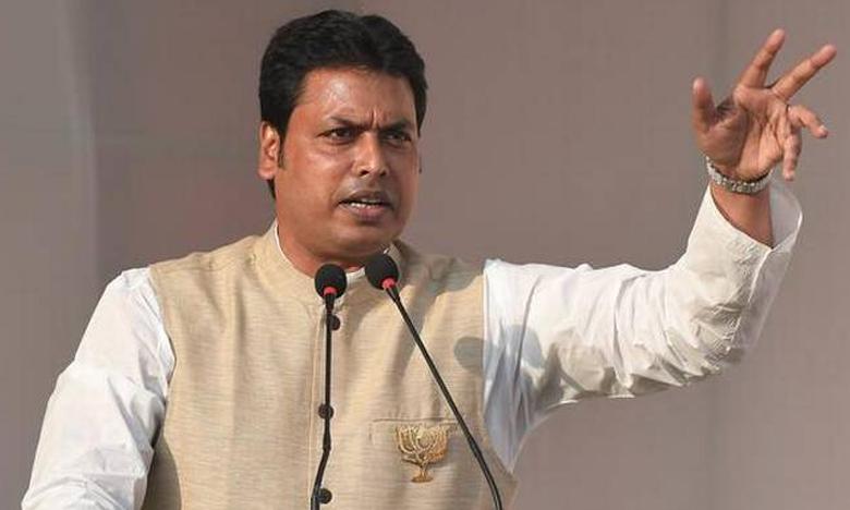 Tripura CM Biplab Deb reportedly accused of domestic violence, త్రిపుర సీఎంపై ఫేక్ న్యూస్.. వ్యక్తి అరెస్ట్