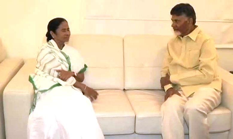 Chandrababu meetings Ends With West bengal CM mamatha, మమతతో ముగిసిన భేటీ.. ఢిల్లీకి చంద్రబాబు