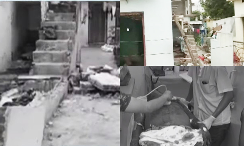 Crude bomb explodes at a home in Visakhapatnam, విశాఖలో పేలిన నాటుబాంబు..
