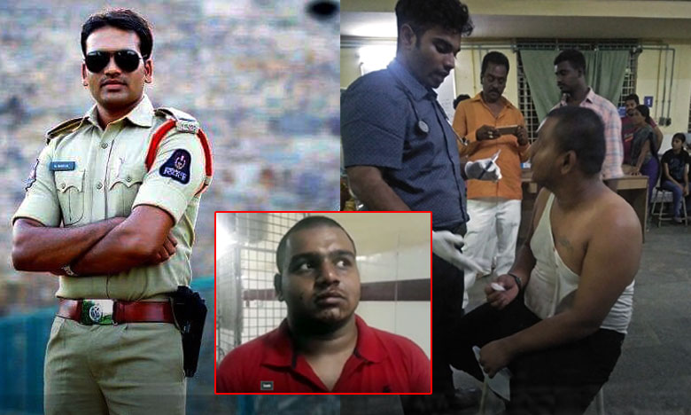 SI brutally attack on young man at Tukaram Gate, యువకుడిపై ఎస్ఐ దాడి..