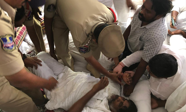 Police breaks Bhatti Vikramarka hunger strike, భట్టి దీక్ష భగ్నం..