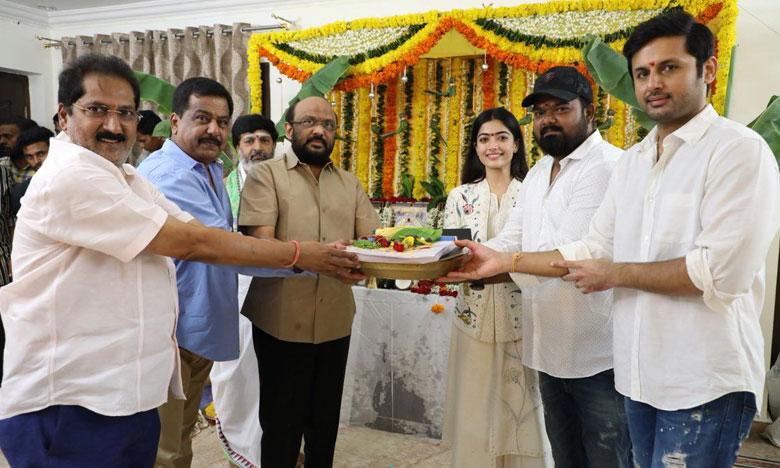 Bheeshma Movie, నితిన్ రెడీ.. 'భీష్మ' స్టార్ట్ అయ్యాడు