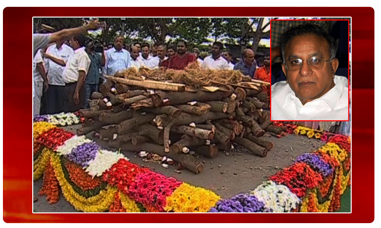 Former union Minister Jaipal Reddy funeral procession finished, ముగిసిన జైపాల్రెడ్డి అంత్యక్రియలు