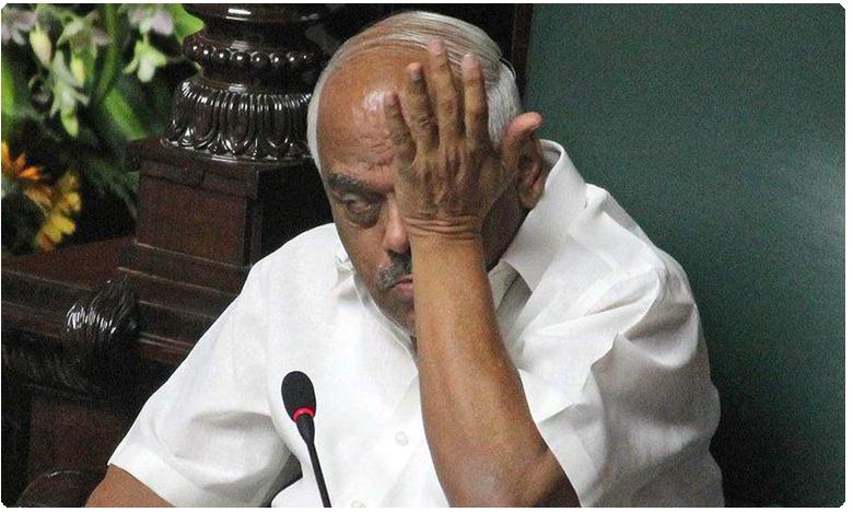 Karnataka speaker RameshKumra Crying, కన్నీరు పెట్టుకున్న కర్నాటక స్పీకర్