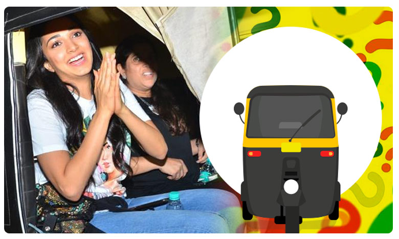 WATCH: Kiara Advani takes autorickshaw ride in Mumbai Video