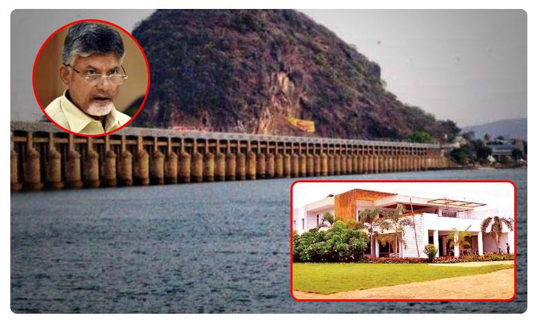 Flood Threat To AP EX CM Chandrababus Residence In Krishna River Karakatta
