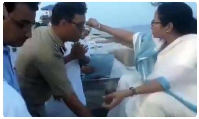 IPS officer touches Bengal CM Mamata Banerjee's feet in uniform, courts controversy