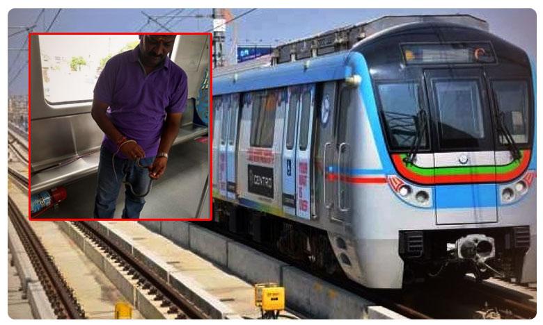Snake found in Hyderabad Metro Rail