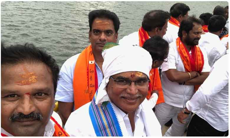 AP, Telangana Ministers Participate To Lift Srisailam Project Gates