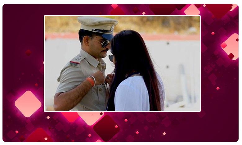 Cop 'Bribed' By Bride In Pre-Wedding Video, ప్రీ వెడ్డింగ్ షూట్ చేసినందుకు పోలీసుల నోటీసులు !