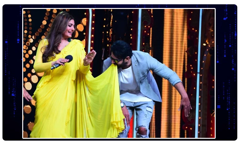 Prabhas Crazy Dance With Raveena Tandon on Tip Tip Barsa Pani at Nach Baliye 9