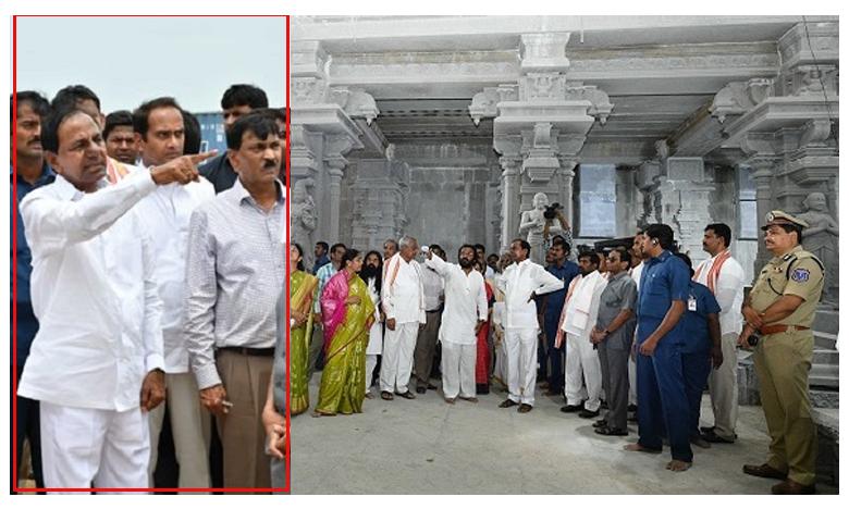 CM KCR fires on yada officials over yadadri lakshmi narasimha temple works