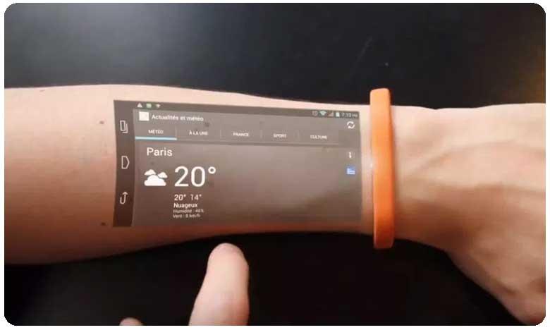 Mobile Phone on your Wrist Cicret Bracelet, జింగ్ జింగ్ బ్రేస్లెట్.. మొబైల్ ఫోన్..!
