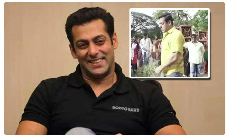 Salman Khan has shared a new video on Instagram in which he is seen whipping himself, కొరడాతో కొట్టుకున్న సల్మాన్ ఖాన్.. వీడియో వైరల్