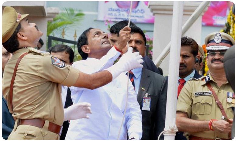 Telangana CM KCR Hoists Flag at Golconda Fort in Hyderabad