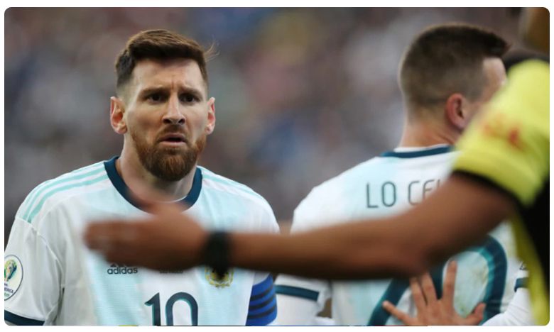 Lionel Messi banned from international football for 3 months, లియోనల్ మెస్సీపై నిషేధం!