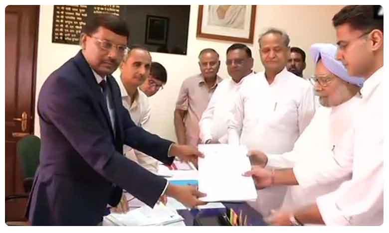Manmohan Singh files nomination