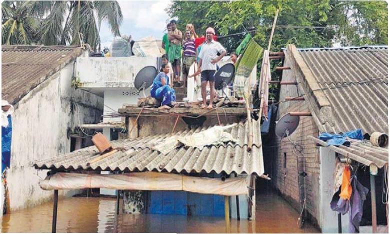 floods continue to battle polavaram villages