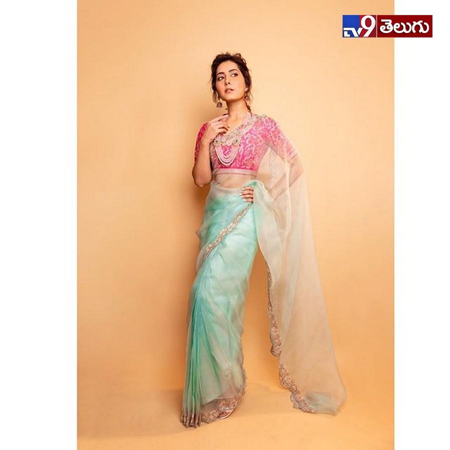 Rashi Khanna New Photos, చీర కట్టులో రాశి ఖన్నా