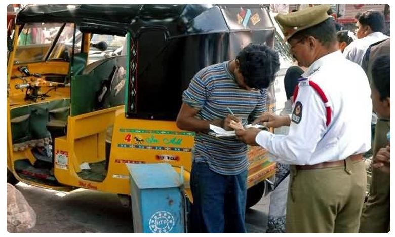 Shocking: Vijayawada Traffic Police Fines Auto Driver For Not Wearing Helmet