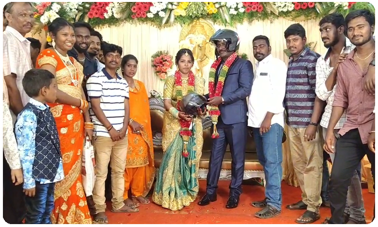 Chennai wedding guests get helmets as gifts