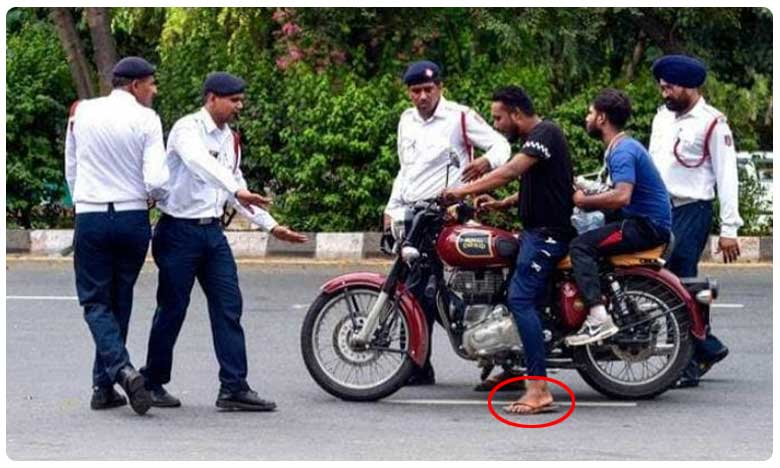 Now Wear Your Shoes Before Riding Bike, Scooter As Chappals Might Get You Rs 1000 Challan