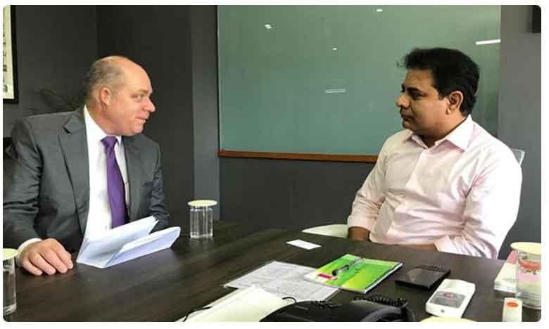 American consul general Joel Reifman meets minister Ktr