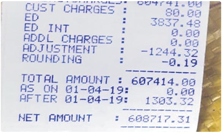 Power bill of Rs 6 lakh to a shed in Godavarikhani shocks everyone