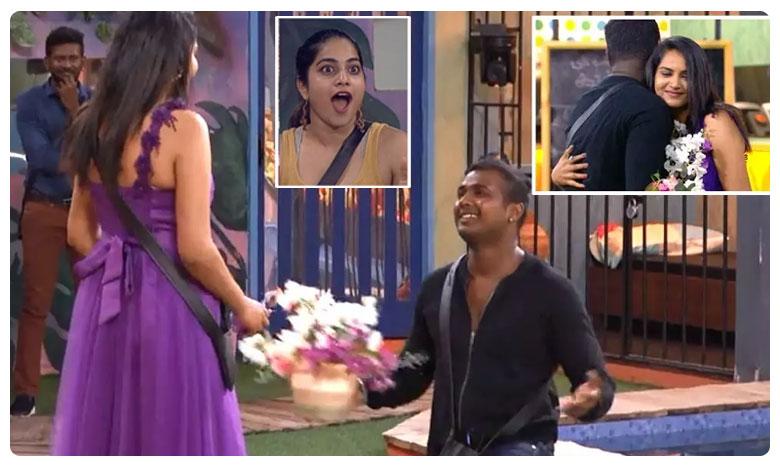 Rahul Sipligunj And Himaja Romance In Bigg Boss House, హిమజ-రాహుల్ రొమాన్స్.. పున్ను ఎంకరేజ్మెంట్