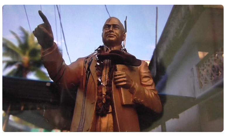 Insult to Ambedhkar Statue in Eluru, అంబేద్కర్కు అవమానం