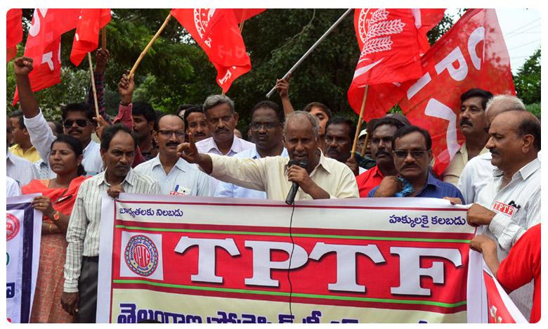 TSRTC strike continues on 8th day silent protest, బ్రేకింగ్ : 8వ రోజు కు చేరుకున్న ఆర్టీసీ సమ్మె.. రాష్ట్ర వ్యాప్తంగా మౌన దీక్షలు