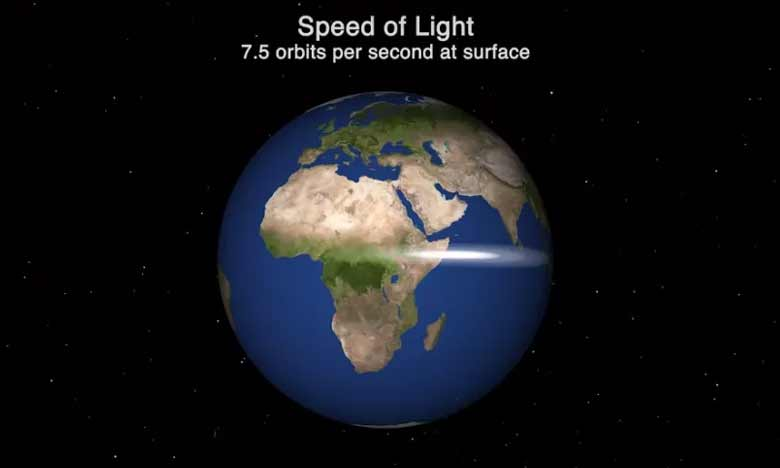 This Real-Time Visual Shows How 'Slow' Light Travels in the Vastness of Space, కాంతి వేగం… రియల్ టైమ్ విజువల్ షో!