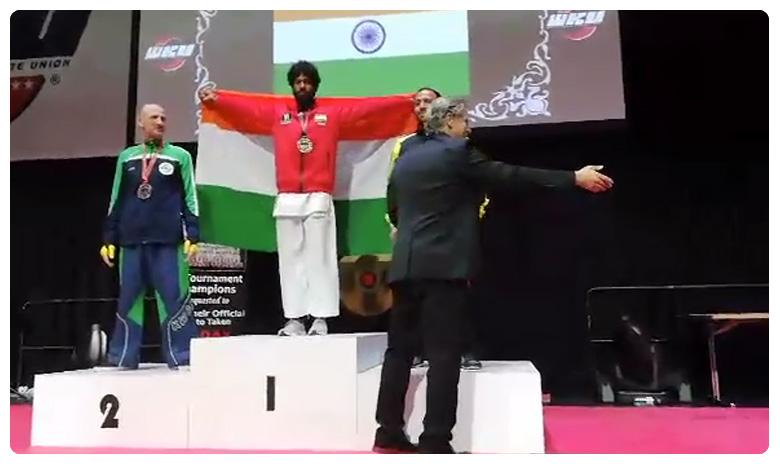 First Indian wins Austrian World Karate Championship, వరల్డ్ కరాటే కింగ్ మన తెలుగోడే..!