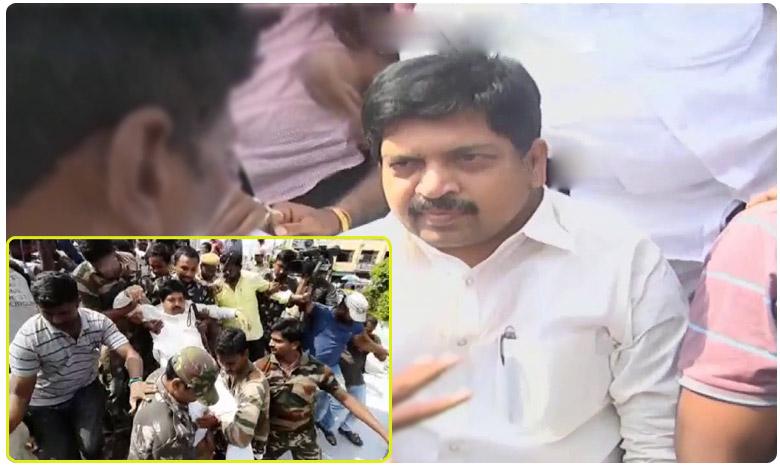 TDP Leader kollu Ravindra arrested Tension Situation in Machilipatnam, మచీలీపట్నంలో ఉద్రిక్తత: కొల్లు రవీంద్ర అరెస్ట్..!