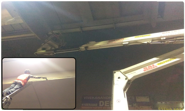 Loose material removed at Hyderabad metro stations