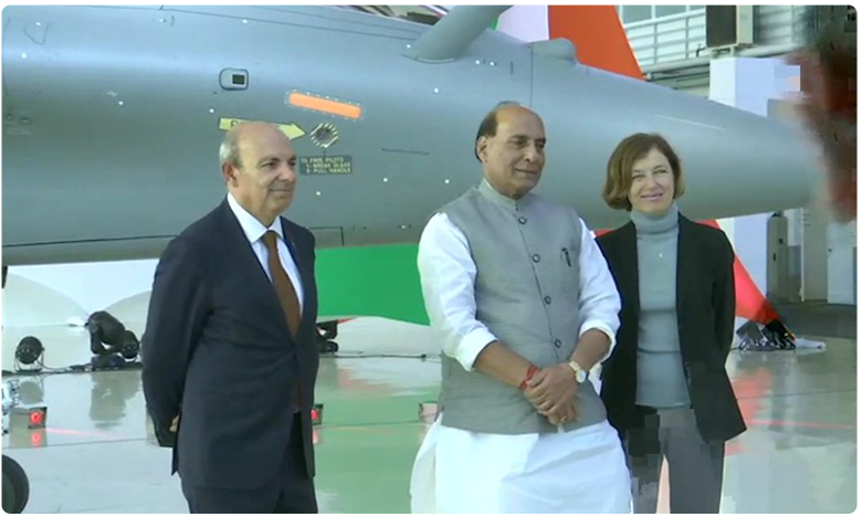 Defence Minister Rajnath Singh takes official handover of Rafale combat aircraft,