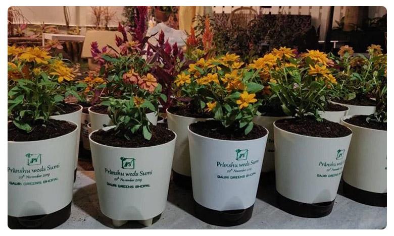 While giving out plants was a cumbersome task, వెడ్డింగ్ ఇన్విటేషన్ తో గ్రీన్ ఛాలెంజ్..