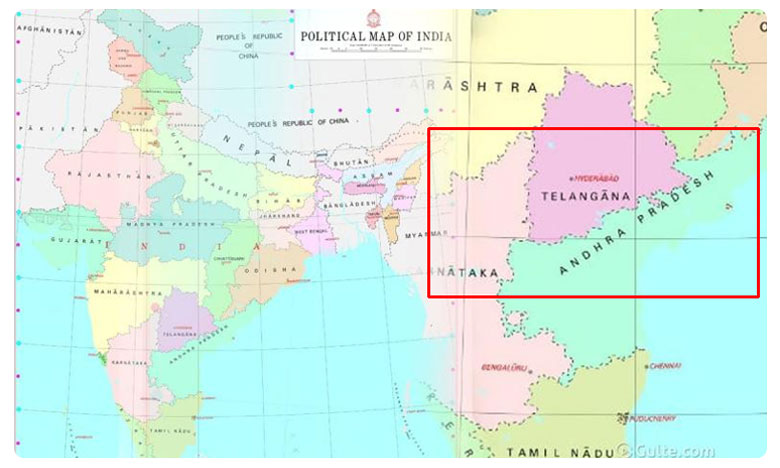 No Capital For Andhra Pradesh In New India's Political Map, కొత్త ఇండియా మ్యాప్: అనాధగా ఆంధ్రప్రదేశ్.. చంద్రబాబే కారణమట..