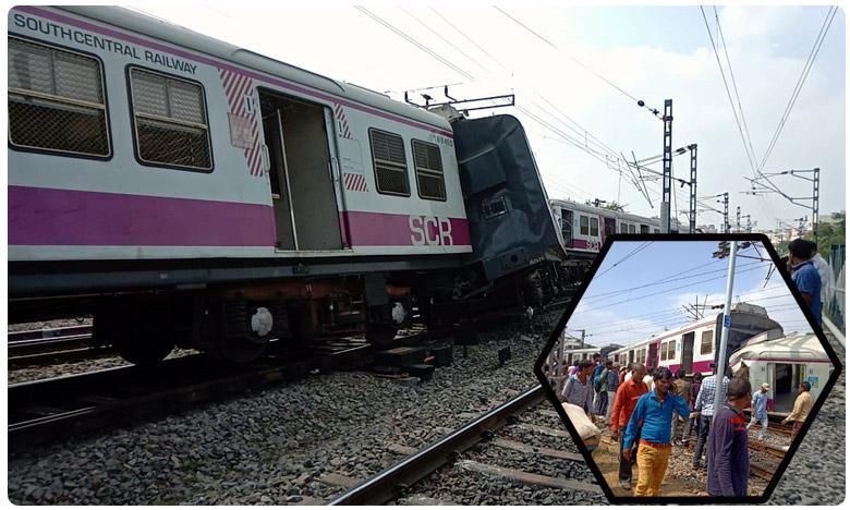 Several injured as Two trains collide at Kachiguda in Hyderabad, ఫ్లాష్ న్యూస్: కాచిగూడలో ఢీ కొన్న రెండు రైళ్లు..!