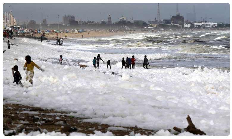 Toxin-laced bubbles cover beach, నురుగు కాదు కాలుష్యం.. ముంచుకొస్తున్న ముప్పుకు సంకేతం!