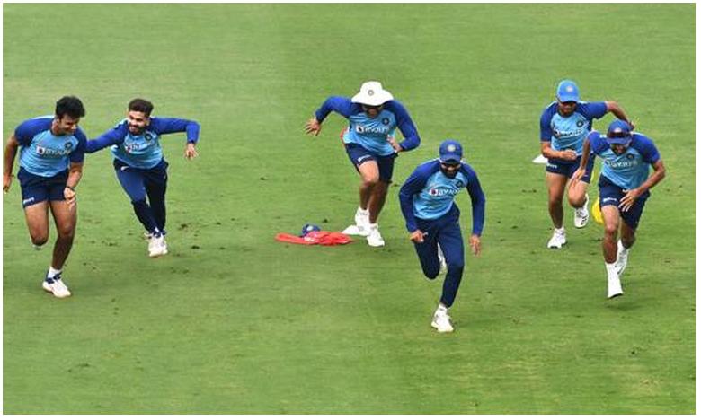Indian cricket team has a new 'fun' drill method; 'Chase' or 'Get Chased', గెలుపు కోసం.. కొత్త గేమ్ ఆడుతున్న టీం ఇండియా