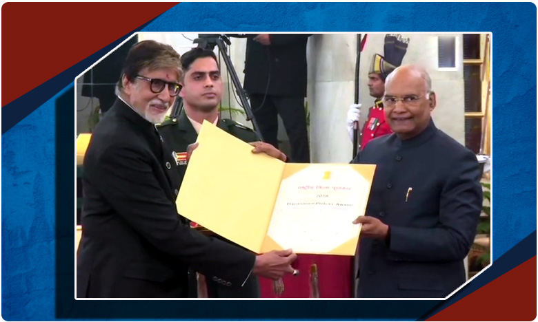 Veteran actor Amitabh Bachchan receives Dadasaheb Phalke Award, బిగ్బీకి దాదా సాహెబ్ ఫాల్కే!
