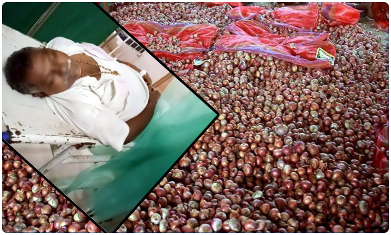 Old man dies while standing in queue for onions in andhra pradesh, గుడివాడ : 'ఉల్లి' మిగిల్చిన విషాదం..ప్రాణాలు కోల్పోయిన వ్యక్తి