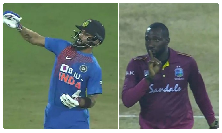 India Vs West Indies, కోహ్లీ ఔట్.. విలియమ్స్ 'నోట్బుక్' ఎక్కడ పోయిందో..!