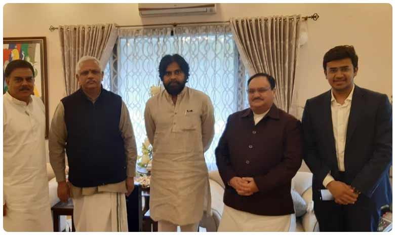 BJP and Jana Sena crucial meeting, బీజేపీతో జనసేన పొత్తా? విలీనమా?.. తేలేది కనుమరోజు!