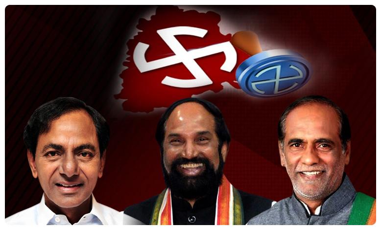 "Telangana Muncipal Elections 2020, మునిసిపల్ ఎలక్షన్స్: ముప్పేట వ్యూహంతో మూడు పార్టీలు రె""ఢీ"""