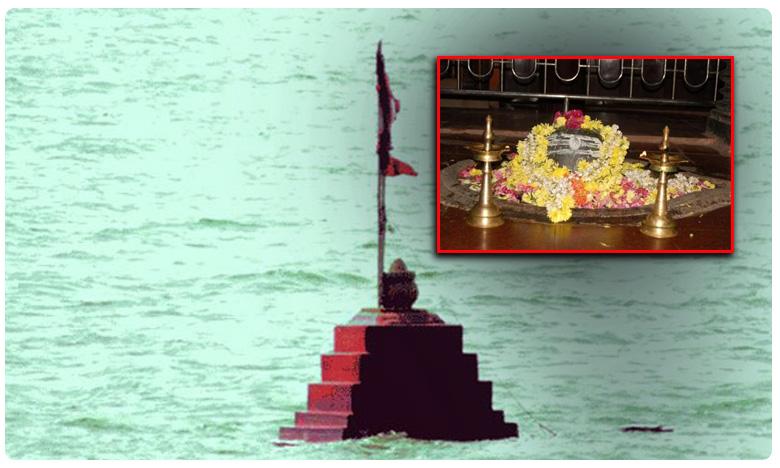 sangameshwara temple seeing light, Sangameshwara Temple: నదీగర్భంలో వెలుగు చూస్తున్న జంగమ దేవుడు