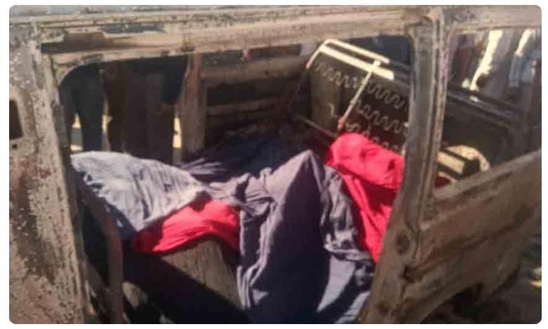 School van catches fire : Four kids burnt to death as school van catches fire in Punjab's Sangrur district, School van catches fire :స్కూల్ బస్సులో మంటలు.. నలుగురు పిల్లలు సజీవ దహనం