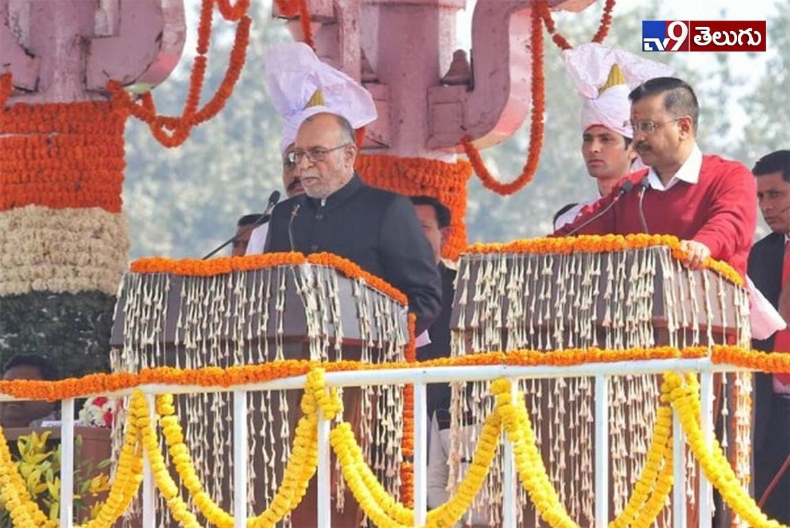 Arvind Kejriwal oath-ceremony in Delhi, ఢిల్లీ 'సీఎంగా కేజ్రీవాల్' ప్రమాణ స్వీకారం
